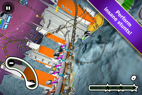 Screenshot Lunar 3D Rollercoaster Rush